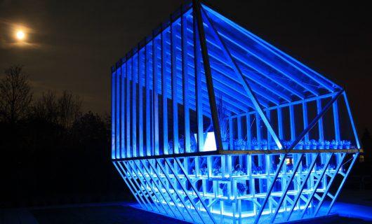 Paviljoen Rabobank Bergeijk ichtinstallatie