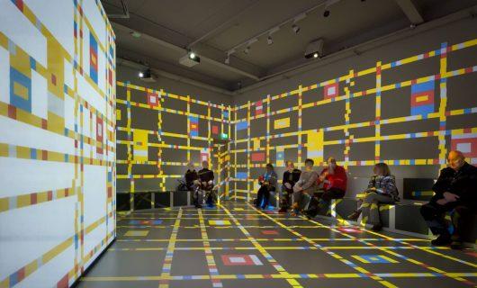 Mondriaanhuis-licht-projectie